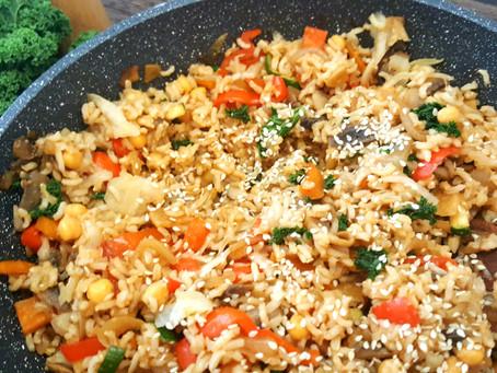 Premium: Pikantní restovaná rýže se zelím