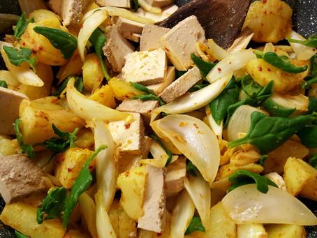 Premium: Indické brambory se špenátem