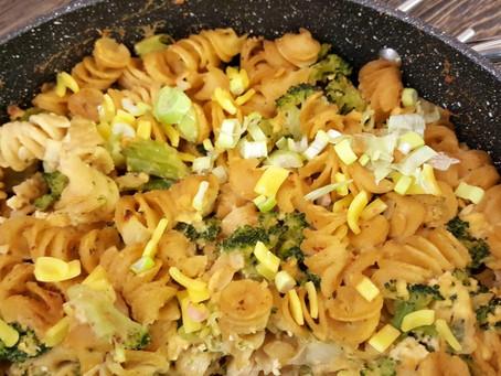 Premium: Zapečené celozrnné těstoviny s brokolicí a bez vajíček