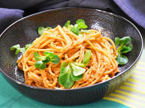 Premium: Špagety s omáčkou z opečených paprik