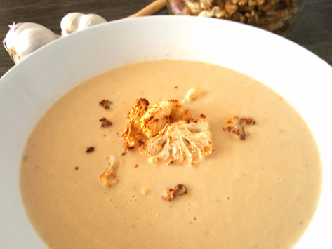 Krémová polévka z pečeného květáku