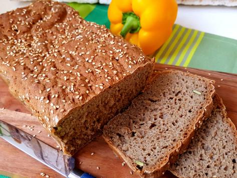 Premium: Jednoduchý a výborný domácí celozrnný žitný chléb bez hnětení