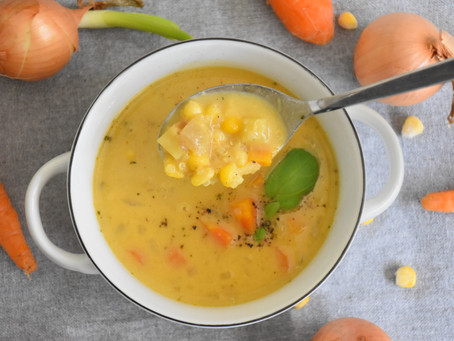 Luxusní krémová kukuřičná polévka