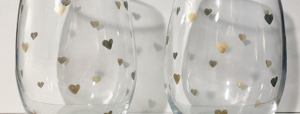 Heart Glass Set