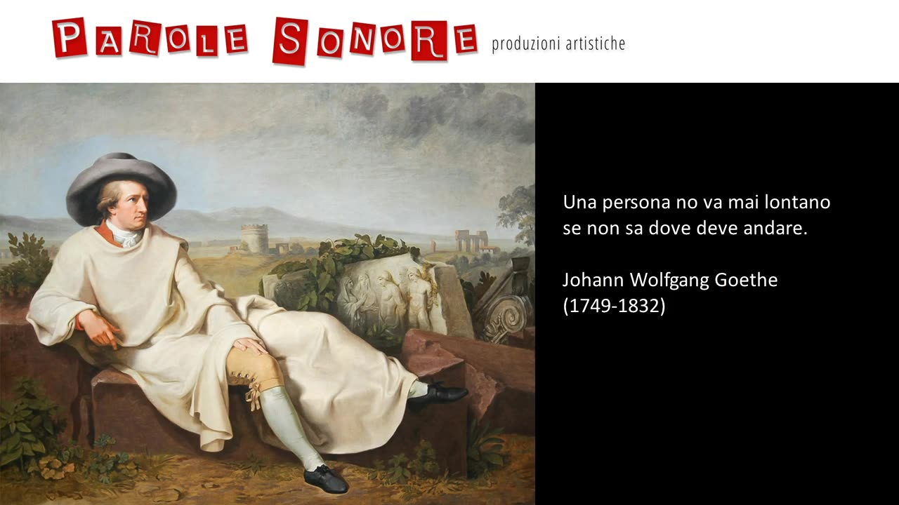 Andare lontano - Johann Wolfgang Goethe