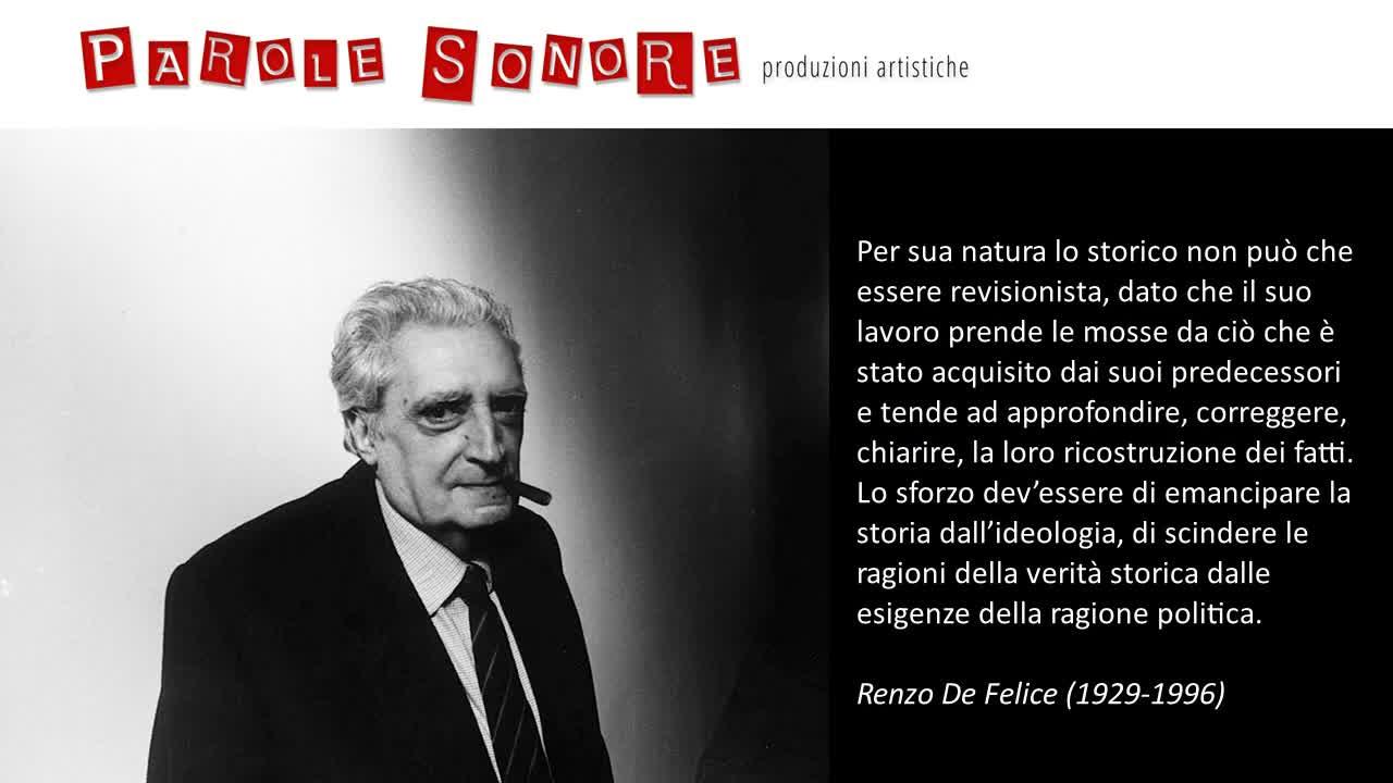 Lo storico_Renzo de Felice