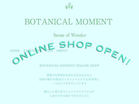𖤘 BOTANICAL MOMENT Online Shop がオープンしました