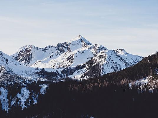 Snowy white mountain