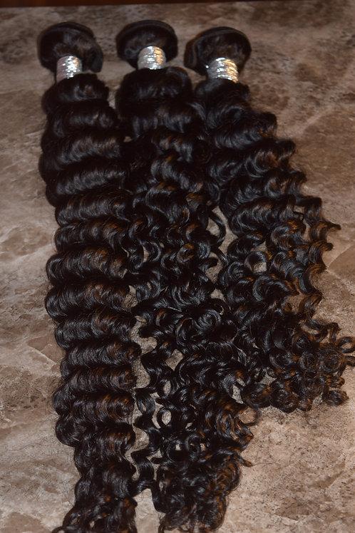 Deep Wave Jerry Curl Mink Hair Bundle