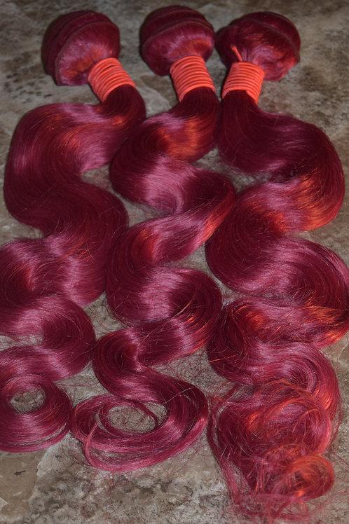 Burgundy Mink Wavy Hair Bundles
