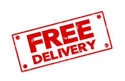 [CITYPNG.COM]Red Rectangular Free Delivery Stamp Icon - 1262x823.png
