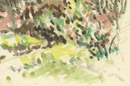 """""""Thicket UCLA Botanical Garden""""  Watercolor on Paper"""