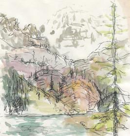 """""""Lake O'Hara""""  Watercolor on Paper"""