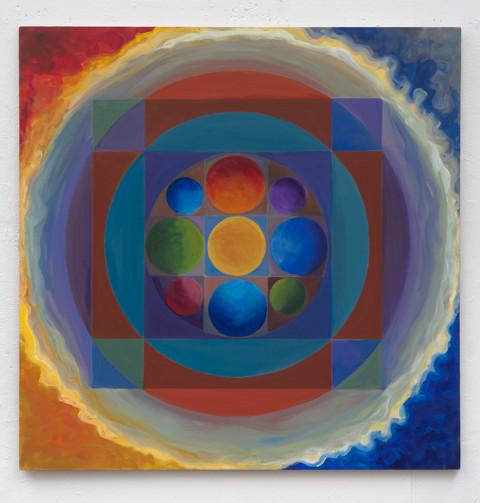 """Centering"" 48x48 Acrylic on Canvas 2014"
