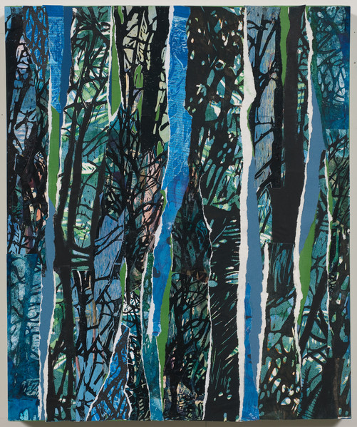 """Blue Weaver""  24x20 Print Collage"