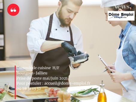 Commis de cuisine H/F sur Bourgoin-Jallieu