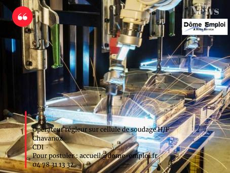 opérateur régleur sur cellule de soudage H/F CDI Chavanoz (38)