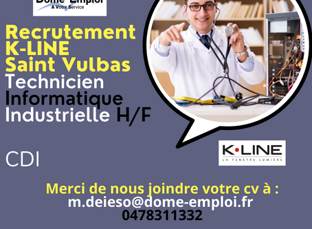 K•LINE Technicien Informatique Industrielle H/F CDI     Saint Vulbas