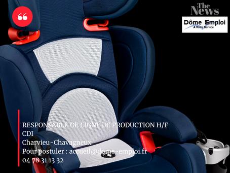 RESPONSABLE DE LIGNE DE PRODUCTION H/F 38 - CHARVIEU CHAVAGNEUX CDI