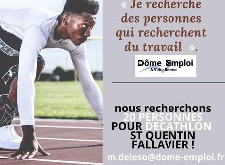 Nous recrutons en urgence 20 préparateurs de commande H/F pour décathlon Saint Quentin Fallavier