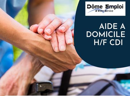 Aide à domicile H/F CDI 24 à 35h00/semaine secteur Colombier Saugnieur