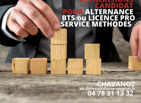 ALTERNANCE BTS ou LICENCE PRO                                         Service Méthodes