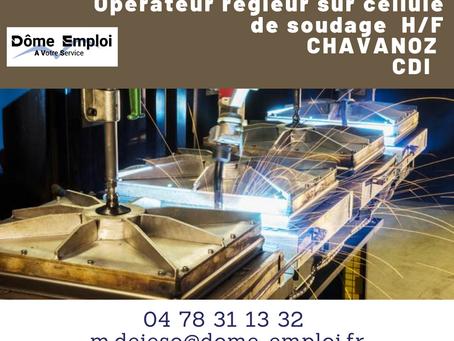 Opérateur régleur sur cellule de soudage H/F - AO-2445  CDI - Chavanoz