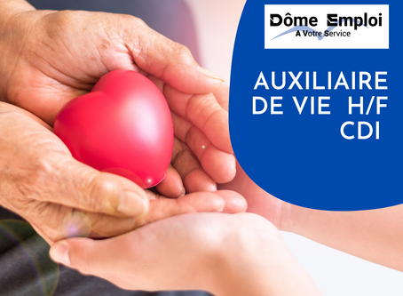 Auxiliaire de vie  H/F CDI 24 à 35h00/semaine secteur Colombier Saugnieu