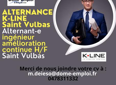 K•LINE Alternant-e ingénieur amélioration continue H/F Saint Vulbas