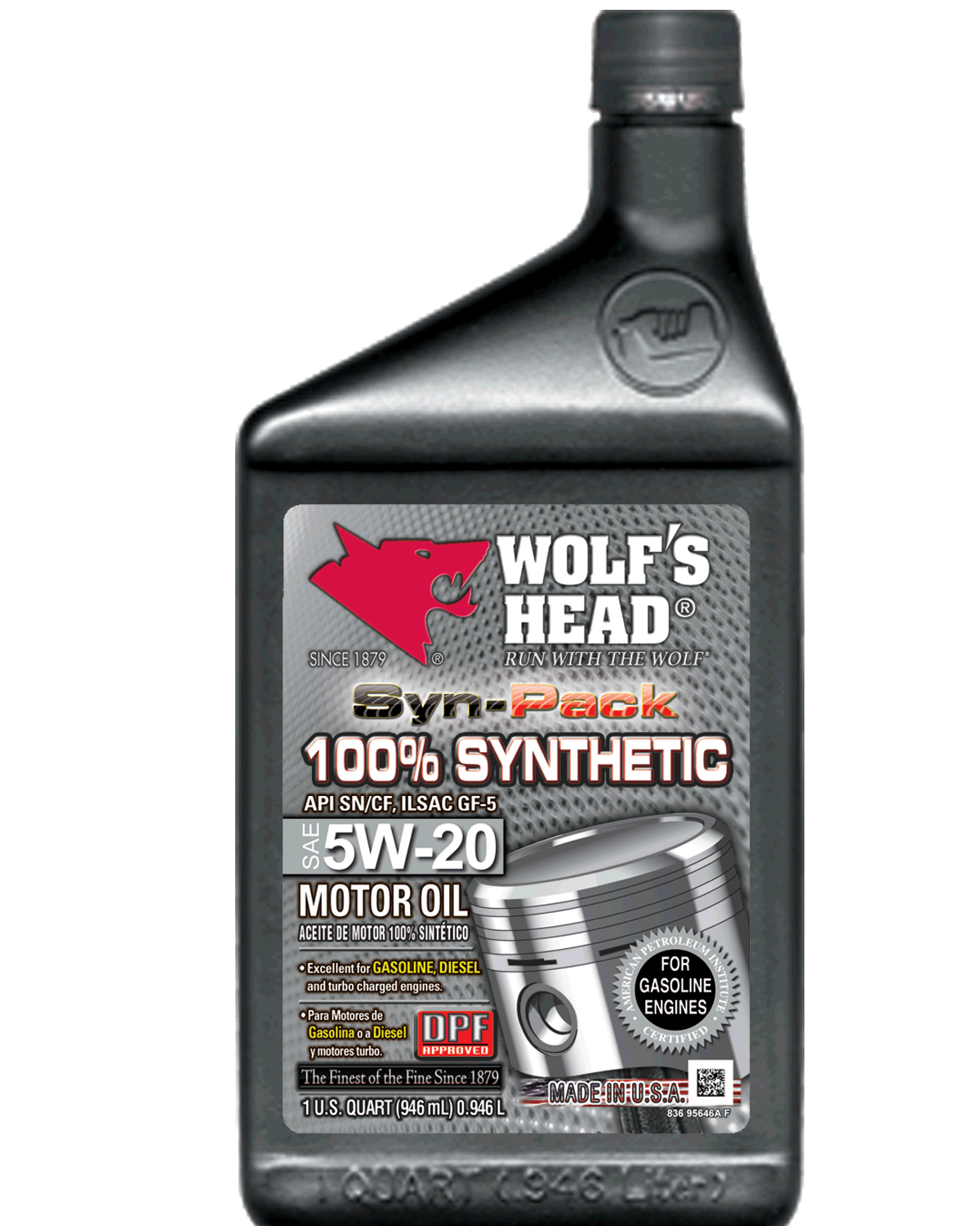 Wolf's Head 100% Synthetic 5w20