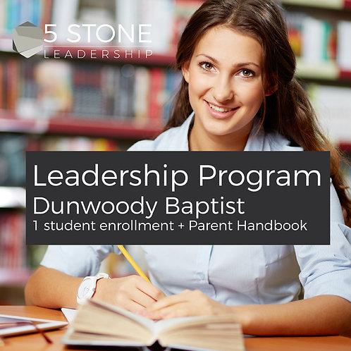 Dunwoody Baptist Leadership Program with free Parent Handbook