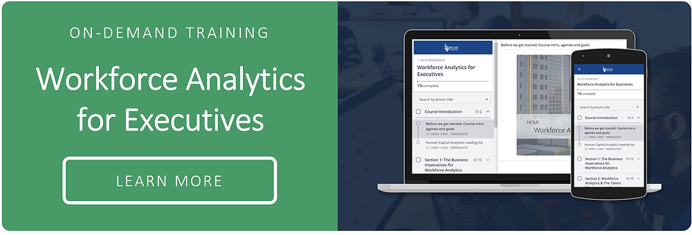 On- Demand Training: Workforce Analytics for Executives