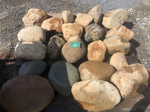 150mm plus Natural River Rock
