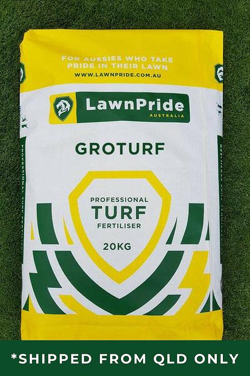 LawnPride GroTurf 20kg 15-4-11 + Traces Lawn Fertiliser