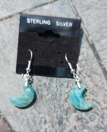 Lunar Goddess Amazonite Earrings