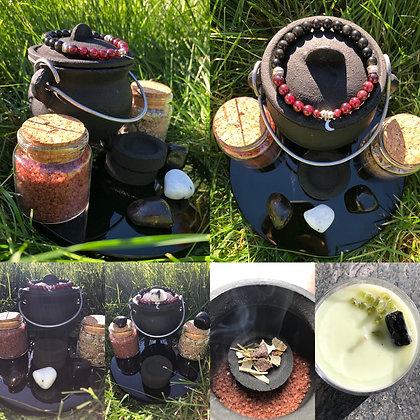 Sacred Ritual Kit (3 inch cauldron)