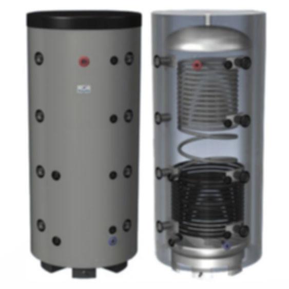 Первое, с чем нужно определиться, – это объем бака, который необходим для вашего котла. Количество теплоносителя в зависимости от мощности котла может варьироваться от 25 до 80 л на 1 кВт котла. Поэтому берут среднее значение 50 л на 1 кВт, т.е. на 20 кВт котла нужен бак объемом 1000 л. Более точно считают специалисты. Второе - это наличие теплообменников в вашем теплоаккумуляторе. Верхние теплообменники служат для съема тепла. Например, верхний теплообменник из черной стали может служить другим контуром для отопления (теплый пол, подогрев дорожек) с другим теплоносителем (незамерзайка). Верхний теплообменник из нержавеющей стали служит для контура ГВС. Нижние теплообменники служат для второго источника тепла (солнечный коллектор, второй котел (газовый, электрический котел)). Практически все модели (кроме ЕАМ серии) работают и как гидрострелки, т.е. выходы на 180 градусов. Если вам необходим специальный теплоаккумулятор – мы изготовим его для вас, по вашим требованиям. Обычно цена не м