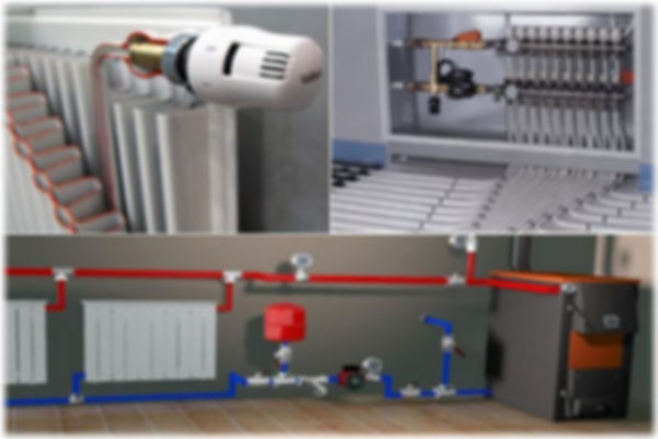 В большинстве случаев применяется водяное отопление. Оно может быть заменено в маленьких домах на печное или электрическое, когда воздух греется непосредственно от конвекторов. Возможна и комбинация печного с электрическим, что неплохо для дач, которые нечасто посещаются. Но для жилого дома это не пройдет, только водяное отопление может обеспечить приемлемый и не дорого достигаемый комфорт. Воздушное же отопление, из-за сложностей создания и проблематичности эксплуатации из-за пыли практически не применяется.