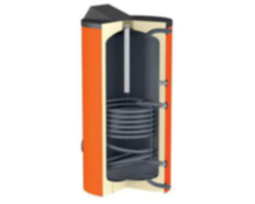 Многие покупатели считают, что наличие дополнительного контура (теплообменника) внутри буферной емкости говорит о возможности приготовления горячей воды, наличия контура ГВС. Но на самом деле, это вовсе не так.  Пустой, обычный бак теплоаккумулятор - емкость, которая работает на прием и сохранение тепла от одного источника тепла - твердотопливного котла. Буферная емкость с одним теплообменникам - дает возможность приема тепла от двух источников. Это могут быть твердотопливный котел, и дополнительный солнечный коллектор. Теплоаккумулятор с двумя внутренними витыми теплообменниками: прием тепла от котла на твердом топливе, контура солнечных батарей, и тепла от теплового насоса. И лишь только небольшой закрытый бак, находящийся в верней части буферной емкости предполагает приготовление ограниченного количества прогретой воды.   Что будет, если запитать контур ГВС на витой внутренний теплообменник. К сожалению. явной пользы от такого подключения вы не получите:  Во-первых, теплоаккумулятор