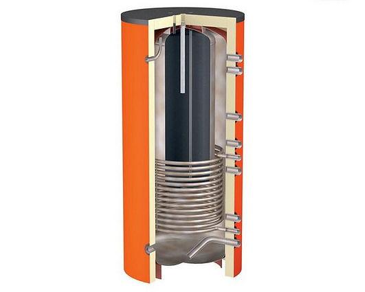 Теплоаккумулятор (ТА, буферная емкость) представляет собой устройство, обеспечивающее накопление и сохранение тепла в течение длительного времени для его дальнейшего использования. Простейшим примером накопителя тепла служит обычный бытовой термос. В качестве еще одного примера можно назвать обычную печь из кирпича, которая нагревается при сжигании в ней топлива, а после окончания топки печь еще несколько часов продолжает отдавать тепло, обогревая помещение.
