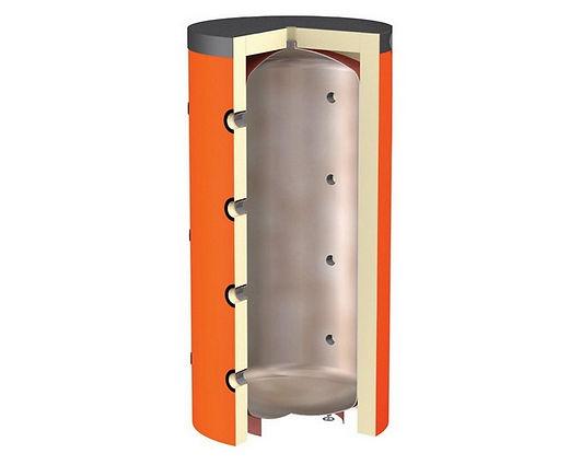 Схема с прямым подключением теплоаккумулятора к контуру источника и потребителя, применяется если:  Требования к качеству теплоносителя в контуре источника и потребителя тепла одинаковые. Рабочее давление у потребителя тепла (на всех режимах) не превышает максимально допустимого давления для источника тепла и самого теплоаккумулятора. Температура теплоносителя в теплоаккумуляторе на всех режимах, соответствует необходимой температуре для потребителя. Данная схема используется в небольших системах отопления частных домов с количественным регулированием на отопительных приборах. При этом на выходе источника тепла, а соответственно и в теплоаккумуляторе, поддерживается постоянная температура.  Если тепловой режим потребителя предполагает качественное регулирование с различной температурой поступающего теплоносителя в зависимости от времени суток или температуры наружного воздуха, данную схему дополняют узлом смешения.  Схема подключения потребителя к теплоаккумулятору с узлом смешения.