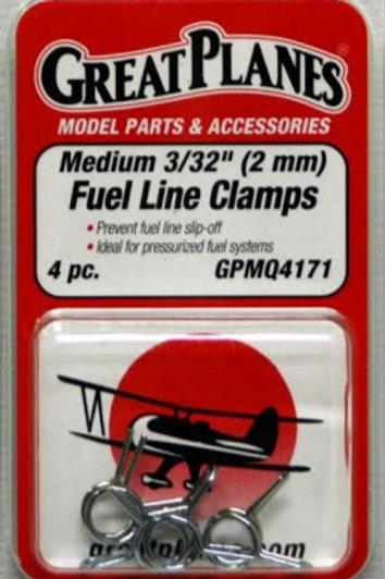 "Clips p/ mangueira de combustível médios 3/32""(4 unidades)"
