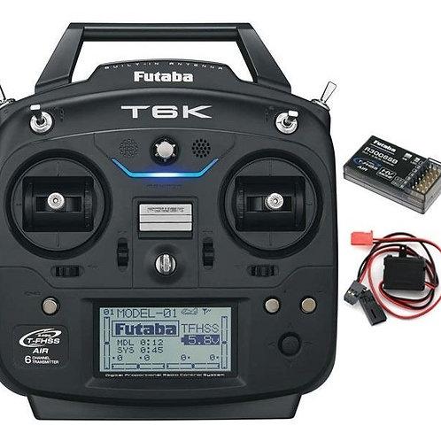 Rádio Futaba 6K com telemetria, sem servos