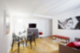 Living Room | Spacious 2 bedroom short term rental | Apartments du Louvre