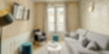 Salón | Precioso apartamento turístico 1 dormitorio | Apartments du Louvre Saint Honoré