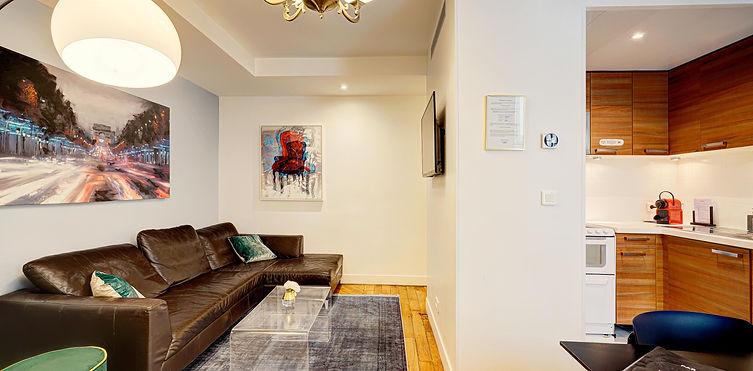 Salón | Amplio apartamento turístico de 3 dormitorios | Apartments du Louvre Le Marais