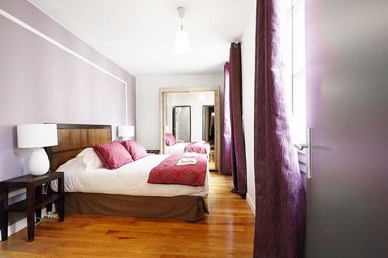 Bedroom | Spacious 2 bedroom short term rental | Apartments du Louvre