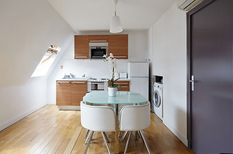 Kitchen | 1 bedroom rooftop holiday apartment | Apartments du Louvre