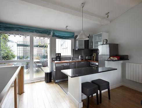 Cocina | Excepcional ático dúplex con 2 terrazas | Apartments du Louvre Saint Honoré