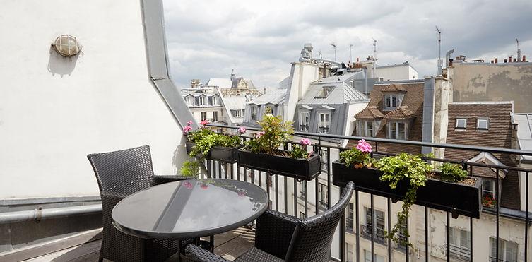 Terraza | Excepcional ático dúplex con 2 terrazas | Apartments du Louvre Saint Honoré